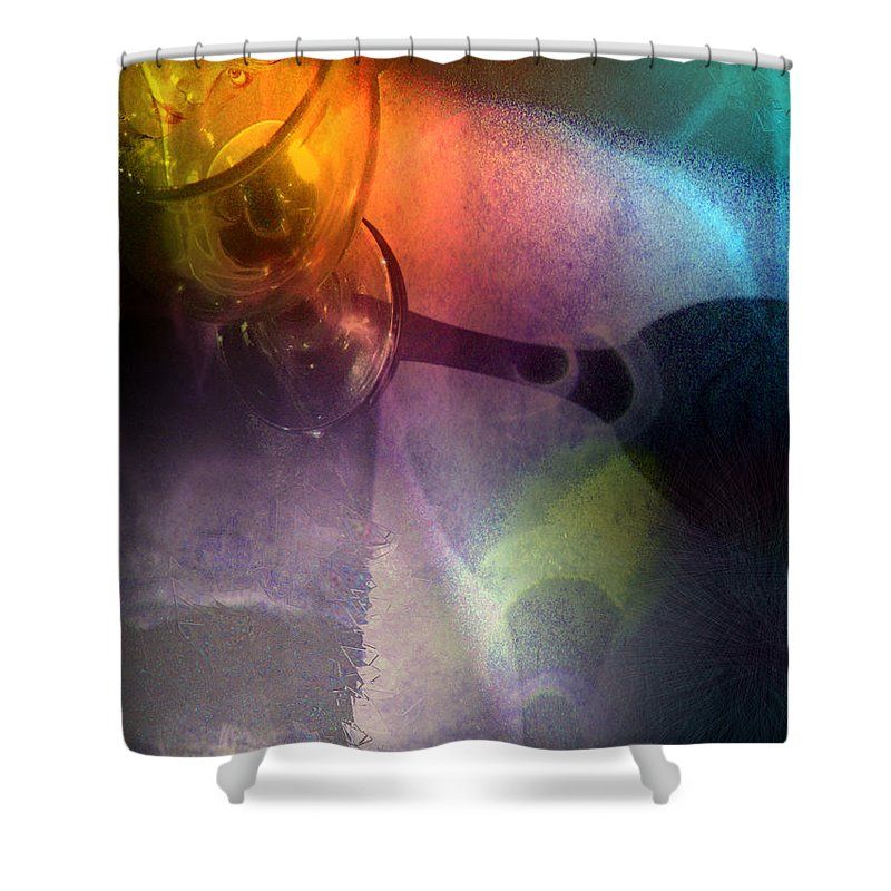 Fantasy Shower Curtain featuring the painting The Shadow Of Your Smile by Miki De Goodaboom