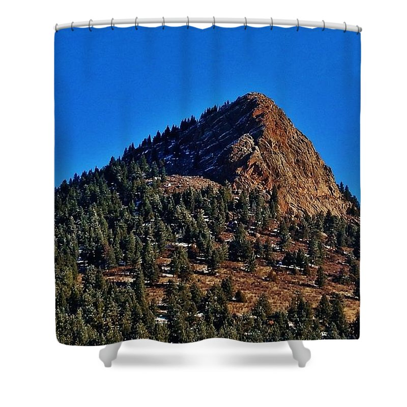 Snow Shower Curtain featuring the photograph The Shadow Side by CL Redding