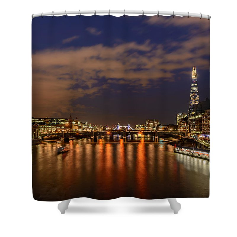 London Shower Curtain featuring the photograph The Shard by Ivelin Donchev