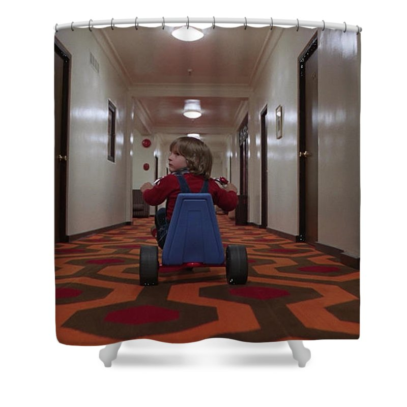 The Shining Shower Curtain featuring the digital art The Shining by Zia Low
