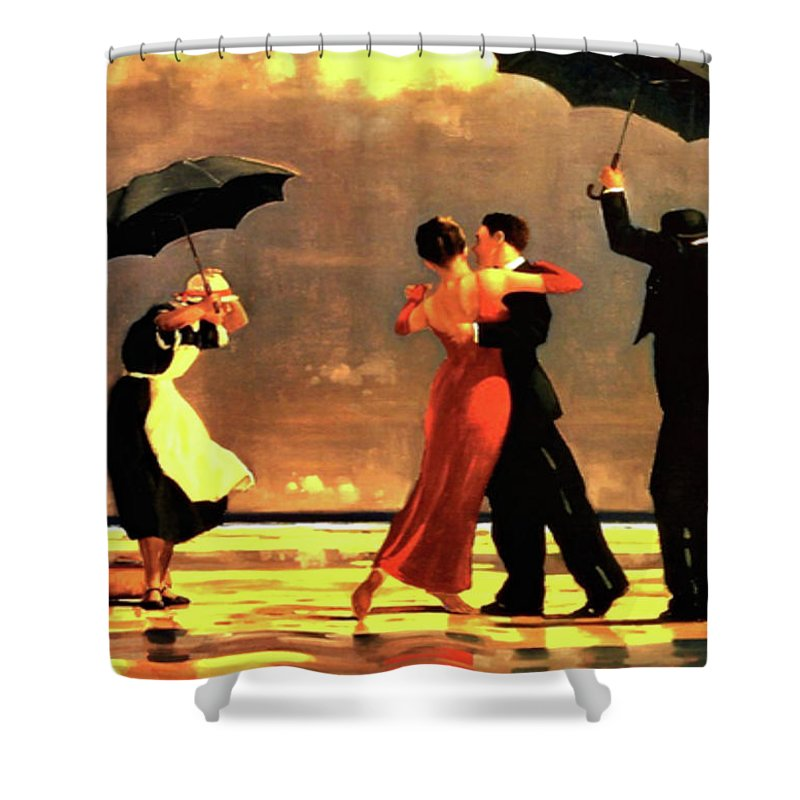Dancing In The Rain Shower Curtains