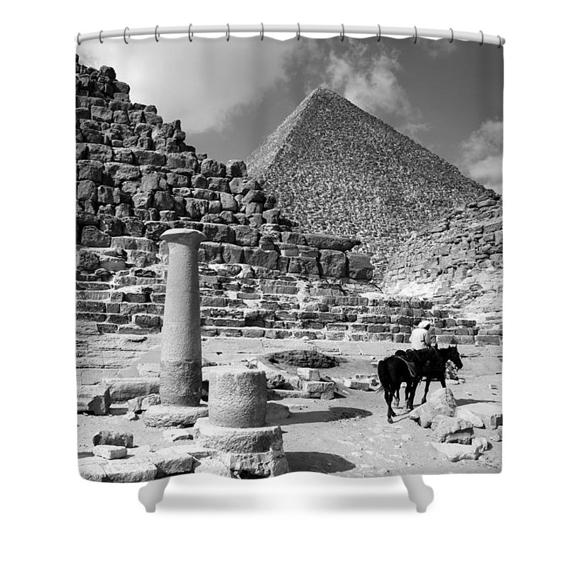single Column Shower Curtain featuring the photograph The Single Column by Donna Corless