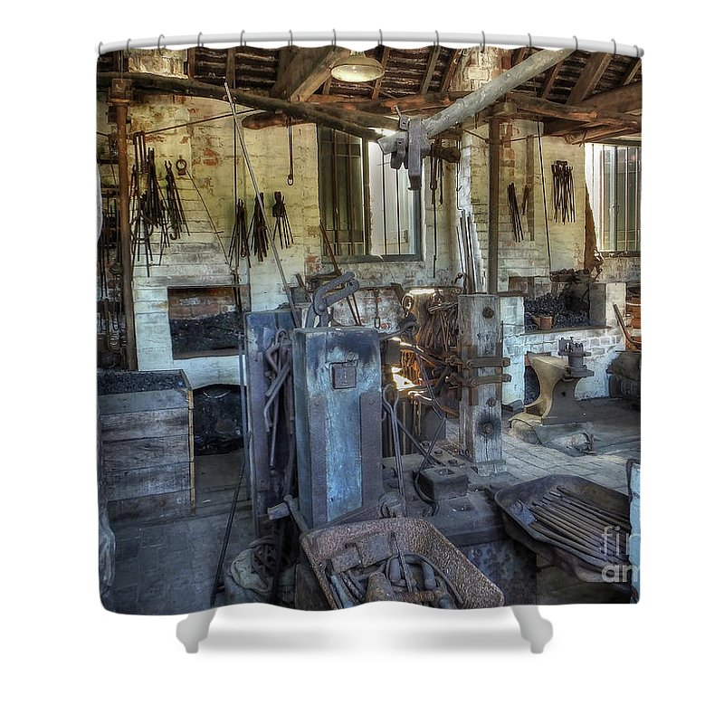 Smithy Shower Curtain featuring the photograph The Smithy by Catchavista