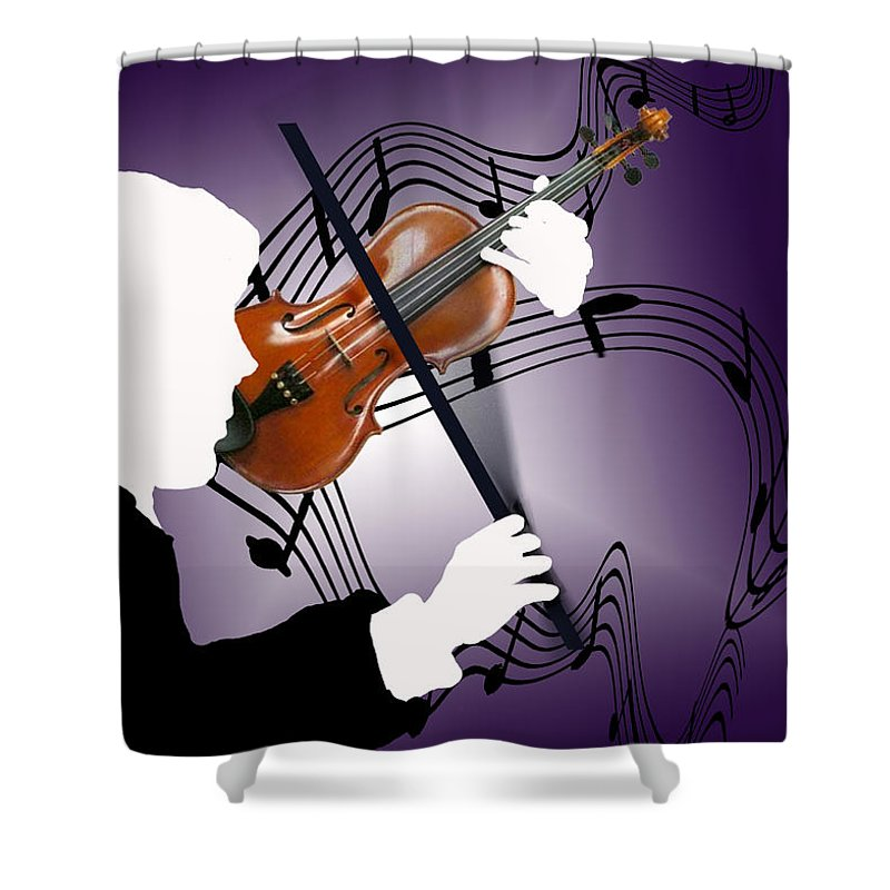 Violin Shower Curtain featuring the digital art The Soloist by Steve Karol
