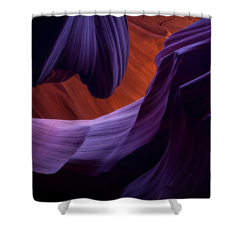 Amaizing Shower Curtain featuring the photograph The Song Of Sandstone by Edgars Erglis