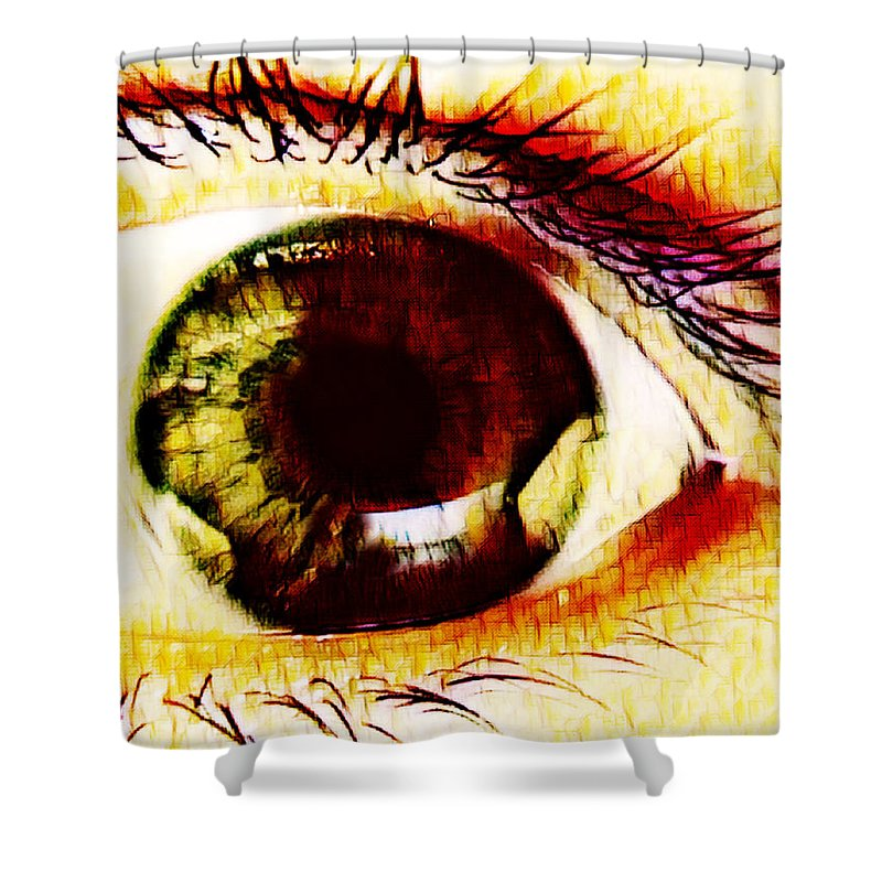 Shower Curtain featuring the digital art The Soul by Mary Garner