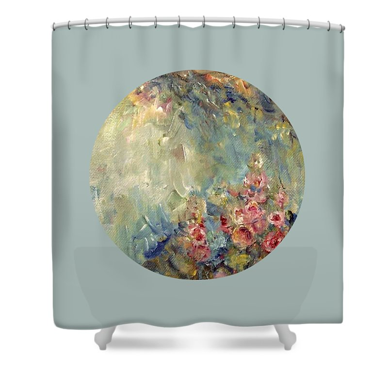 Impressionism Shower Curtain featuring the painting The Sparkle Of Light by Mary Wolf