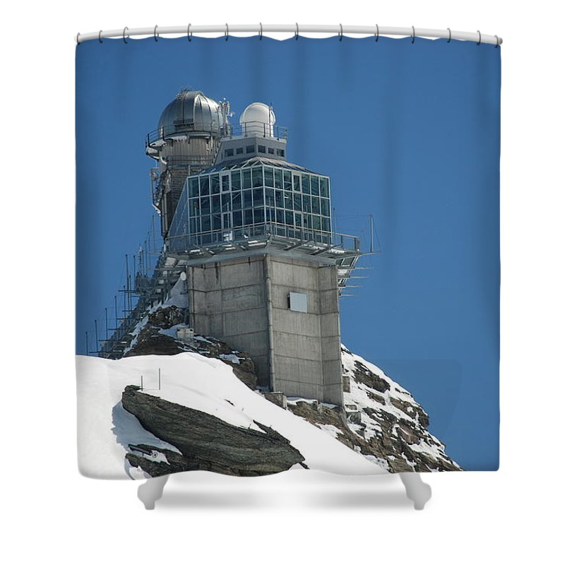 Spinx Shower Curtain featuring the photograph The Spinx Jungfraujoch by Chris Pickett