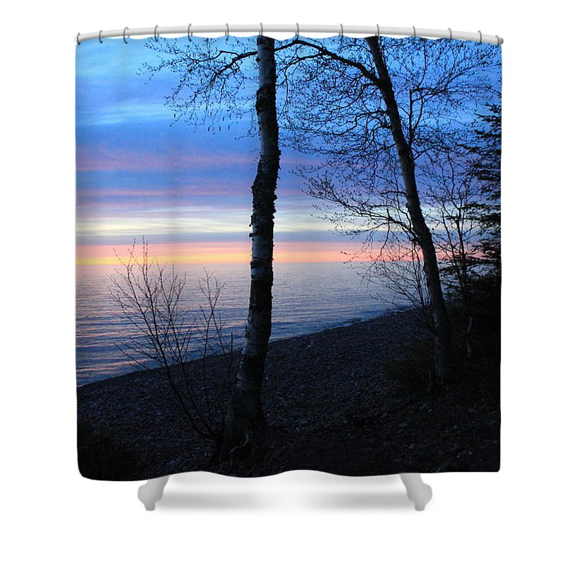 Pure Shower Curtain featuring the photograph The Spot by Two Bridges North