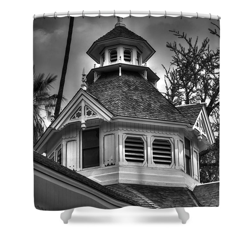 Steeple Shower Curtain featuring the photograph The Steeple by Richard J Cassato