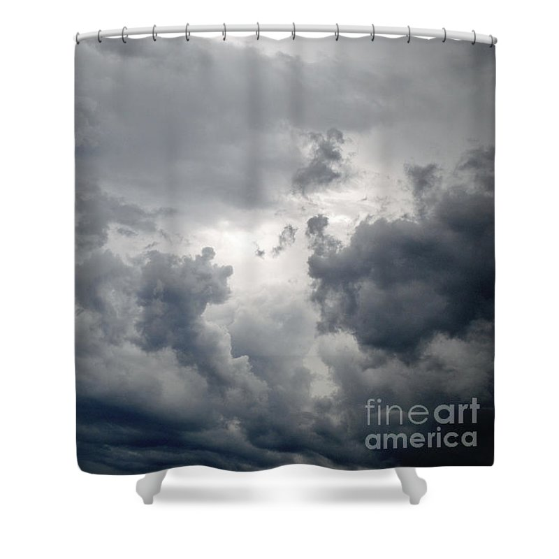 Clouds Shower Curtain featuring the photograph The Storm by Jost Houk