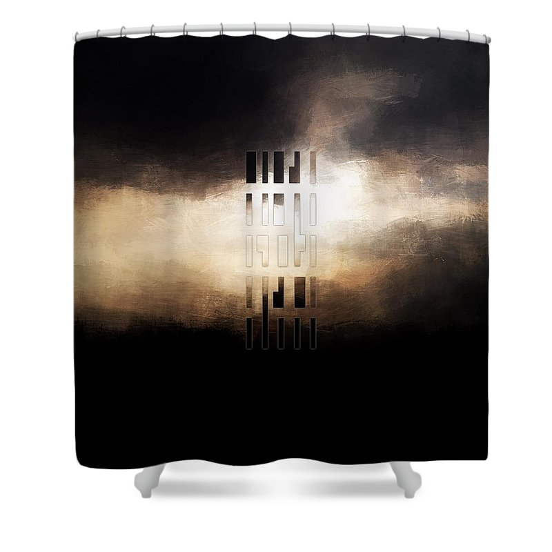 Lc Bailey Shower Curtain featuring the digital art The Storm by Lonnie Christopher