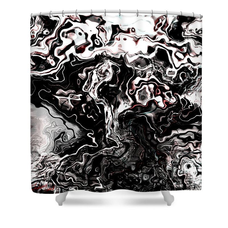 Storm Wind Clouds Nature Wind Shower Curtain featuring the digital art The Storm by Veronica Jackson