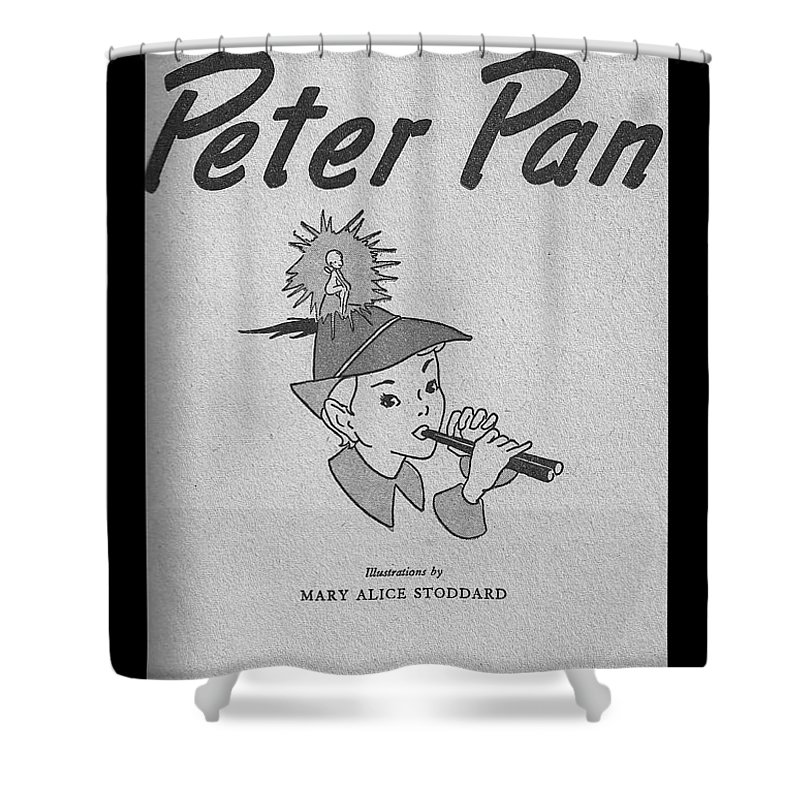 Antique Shower Curtain Featuring The Photograph Story Of Peter Pan By Tina M Wenger