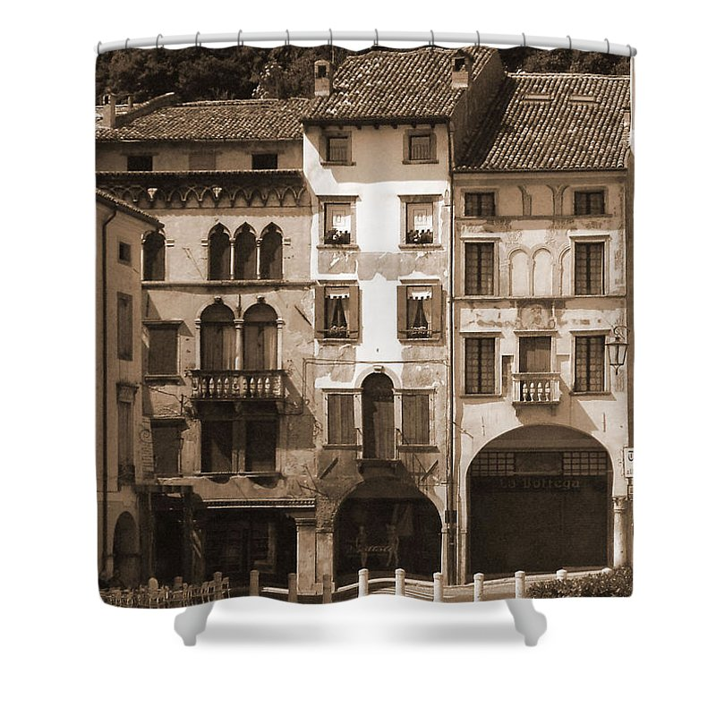 Landscape Shower Curtain featuring the photograph The Streets Of Vittorio Veneto by Donna Corless