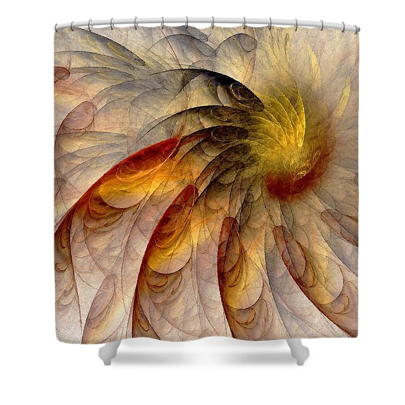 Sun Shower Curtain featuring the digital art The Sun Do Move - Remembering Langston Hughes by NirvanaBlues