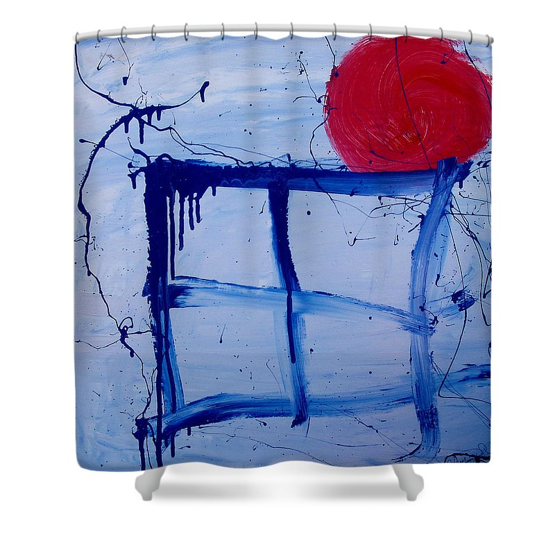 Sun Shower Curtain featuring the painting The Sun Through My Window by Wayne Potrafka