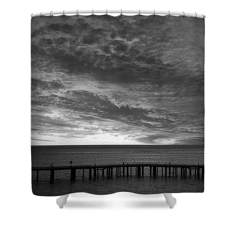 Sun Shower Curtain featuring the photograph The Sunset by Munir Alawi