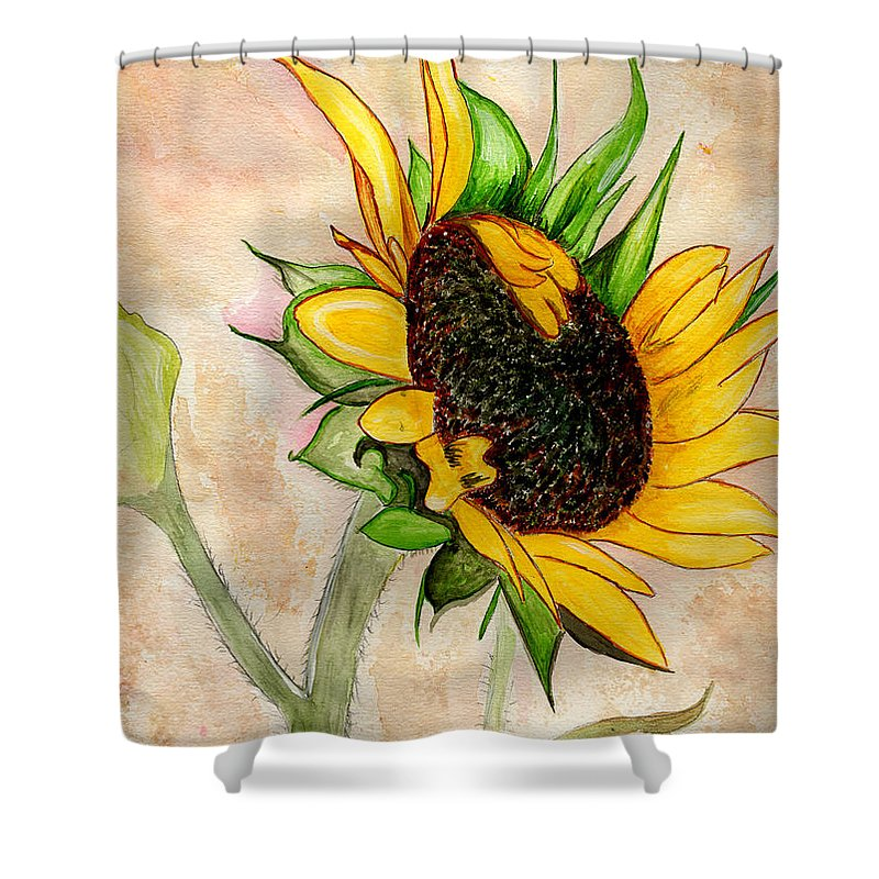 Sunflower Shower Curtain featuring the painting The Sunshine Of God's Love by Anne Gitto