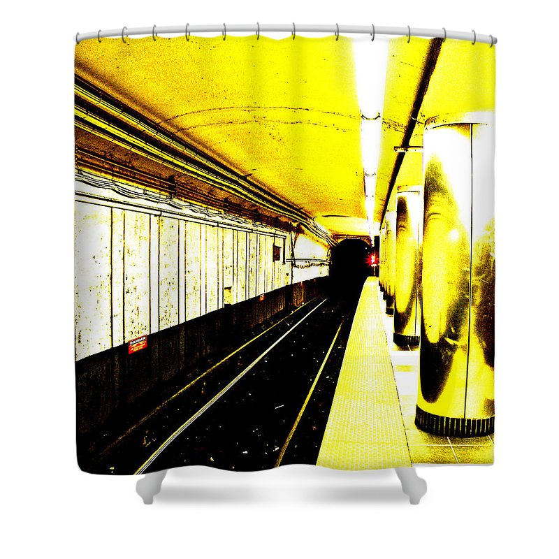The T Shower Curtain featuring the photograph The T by Donna Shahan