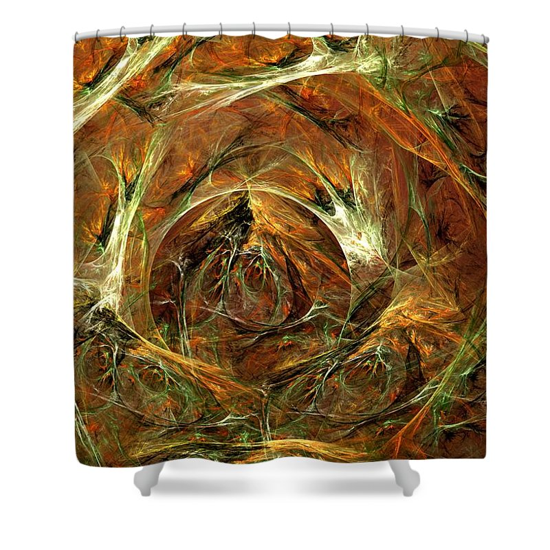 Digital Painting Shower Curtain featuring the digital art The Tangled Webs We Weave by David Lane