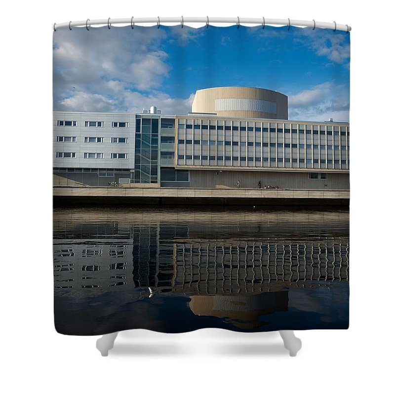 Oulu Shower Curtain featuring the photograph The Theatre Of Oulu 1 by Jouko Lehto