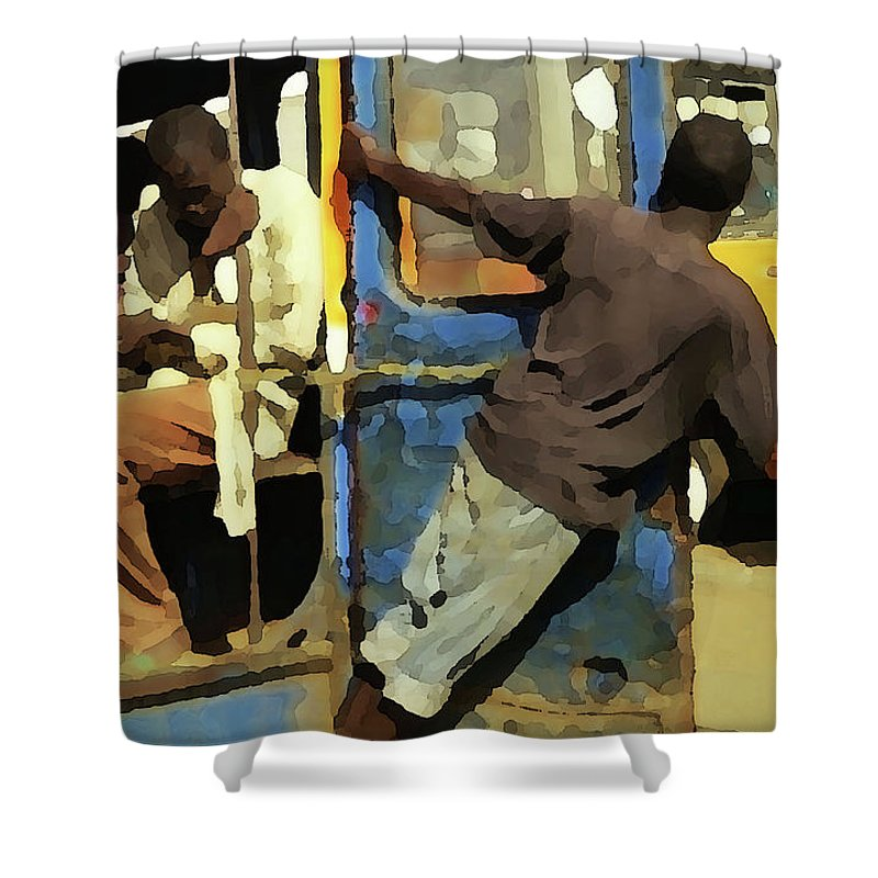 Senegal Shower Curtain featuring the photograph The Tout by Wayne King