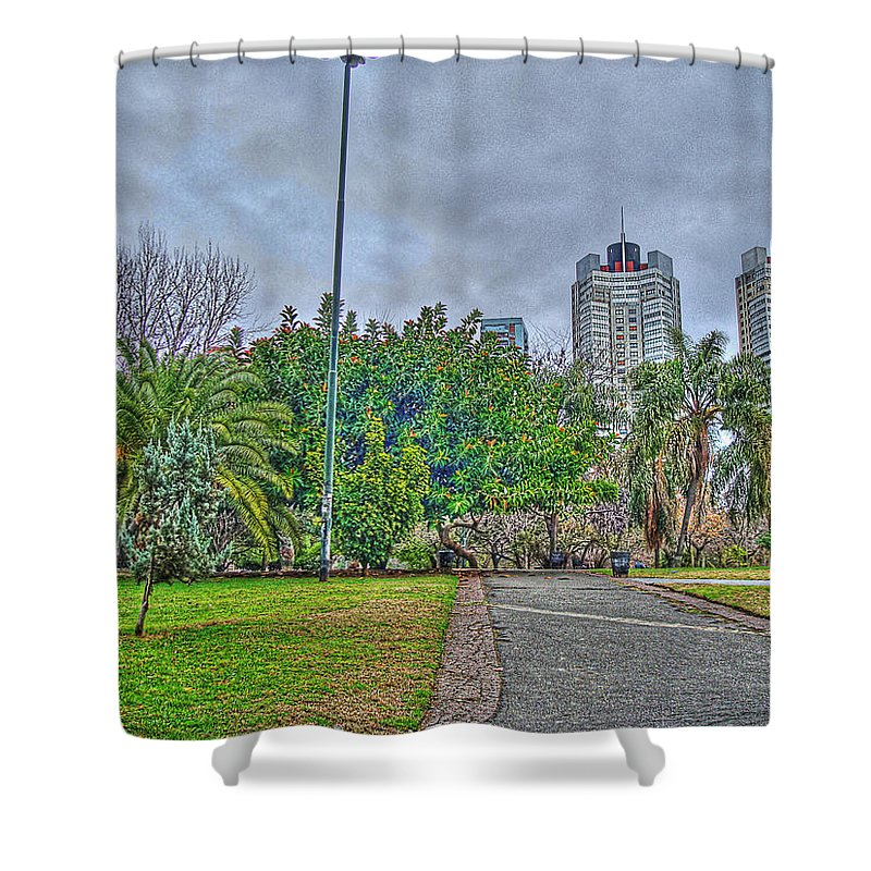 Towers Shower Curtain featuring the photograph The Towers by Francisco Colon