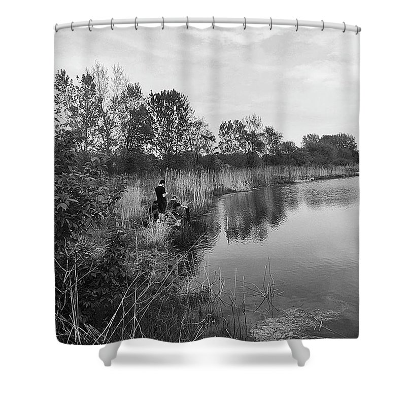 Water Shower Curtain featuring the photograph Moving the Water by Frank J Casella