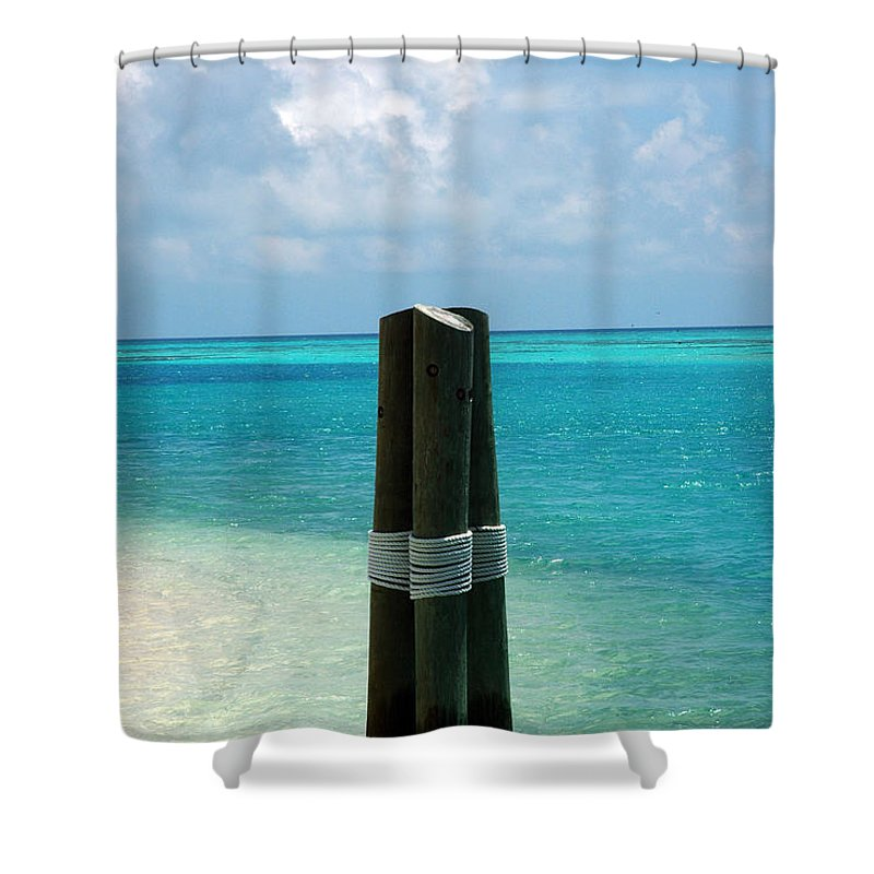 Tropical Shower Curtain featuring the photograph The Triplets by Susanne Van Hulst