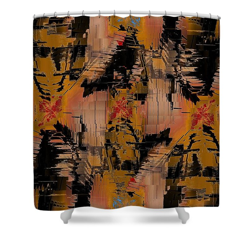 Turmoil Shower Curtain featuring the digital art The Turmoil Within by Tim Allen