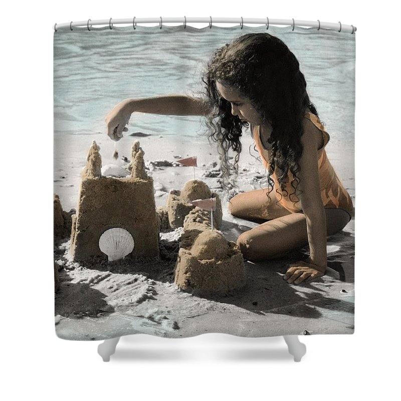 The Twelve Gifts Of Birth Shower Curtain featuring the photograph The Twelve Gifts Of Birth - Imagination 1 by Jill Reger