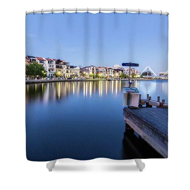 Light Shower Curtain featuring the photograph The View At Day's End by Sue Errington-Wood