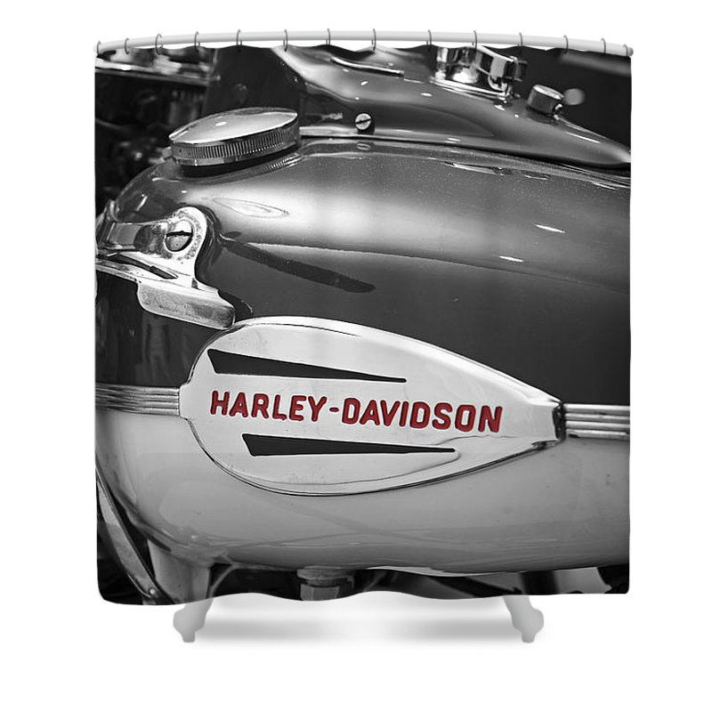 The Vintage Harley Shower Curtain For Sale By Mark Rogan