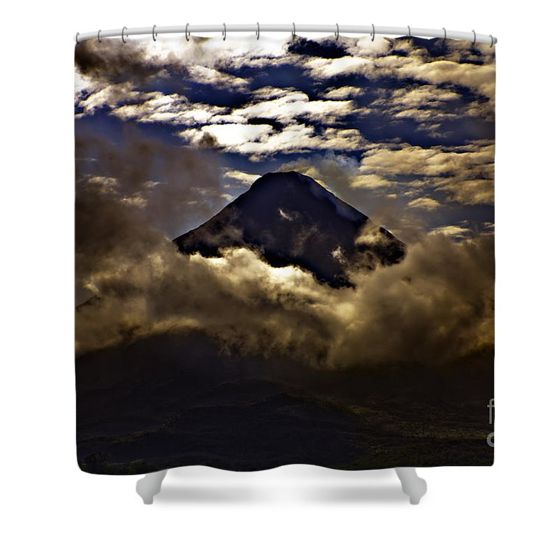 Volcano Shower Curtain featuring the photograph The Volcano by Madeline Ellis
