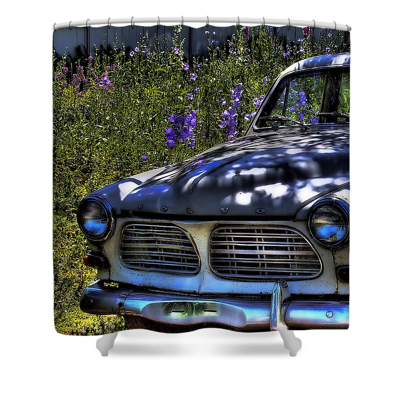 Volvo Shower Curtain featuring the photograph The Volvo by David Patterson