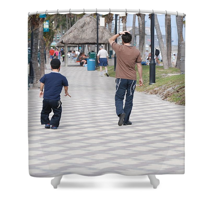 Man Shower Curtain featuring the photograph The Walk by Rob Hans