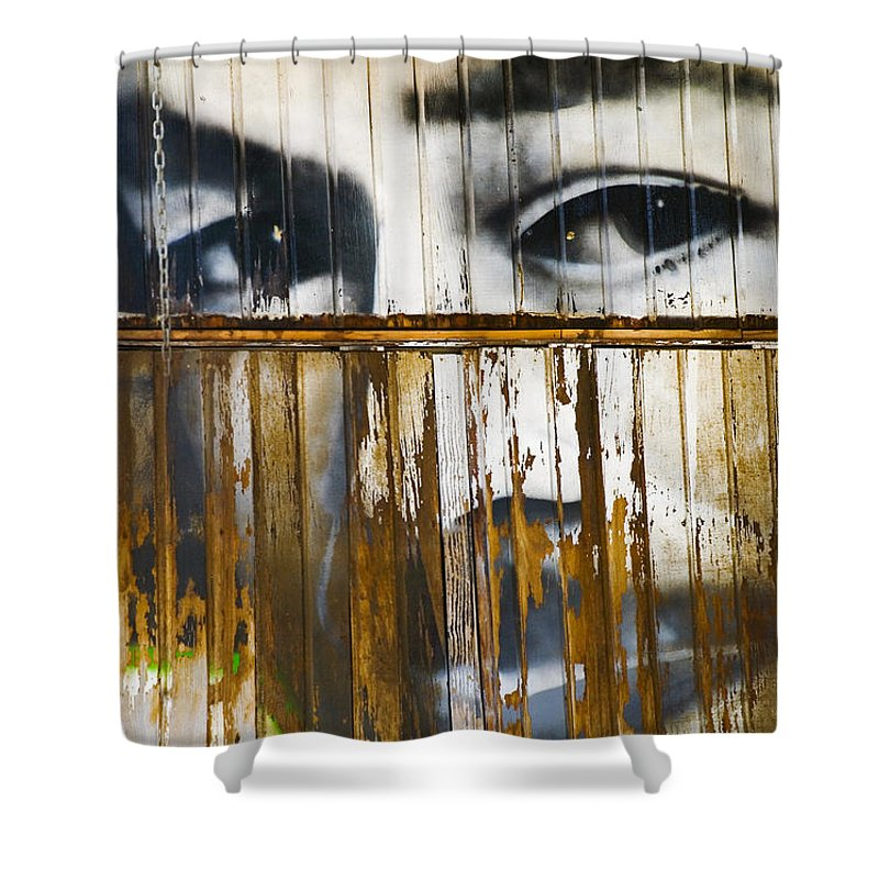 Escondido Shower Curtain featuring the photograph The Walls Have Eyes by Skip Hunt