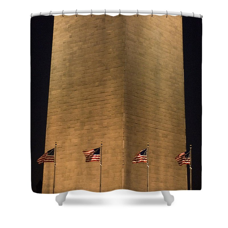 Photography Shower Curtain featuring the photograph The Washington Monument In Washington by Joel Sartore