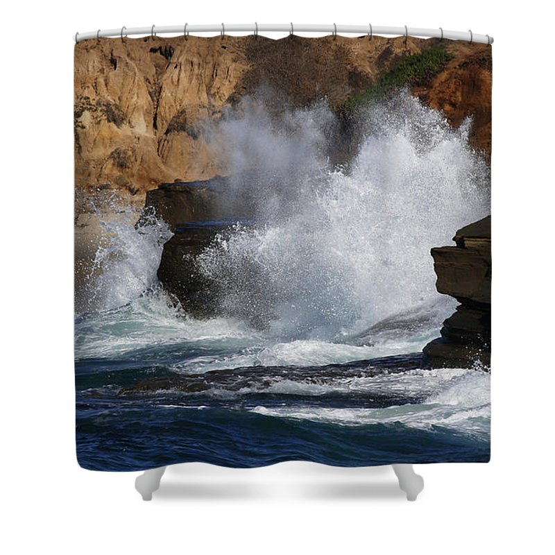 Ocean Shower Curtain featuring the photograph The Wave by Debbie Parker