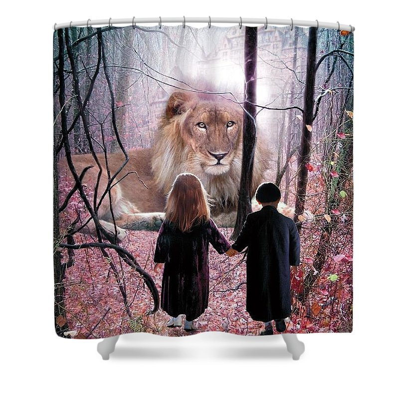 Children Shower Curtain featuring the digital art The Way by Bill Stephens