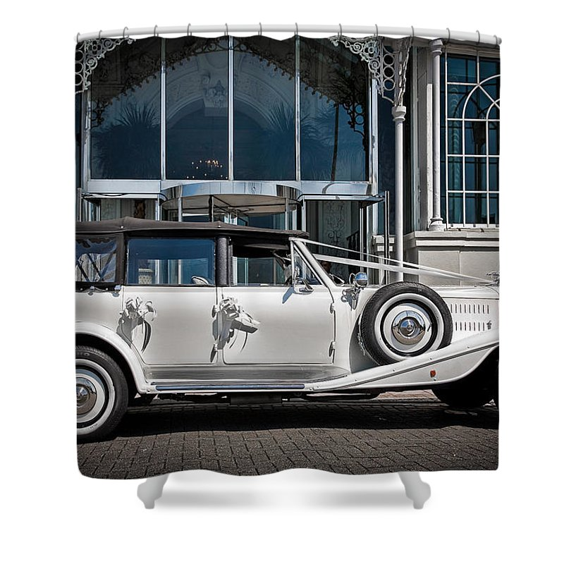 Beaufort Shower Curtain featuring the photograph The Weddingmobile by Chris Lord