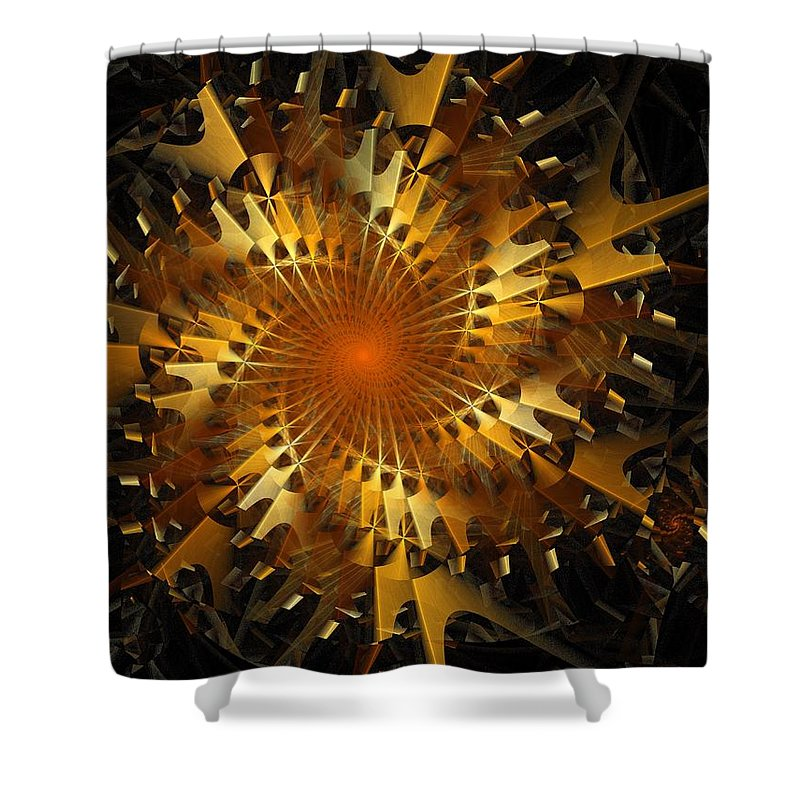 Digital Art Shower Curtain featuring the digital art The Wheels Of Time by Amanda Moore