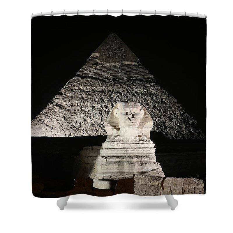 Sphynx Shower Curtain featuring the photograph The White Sphynx by Donna Corless