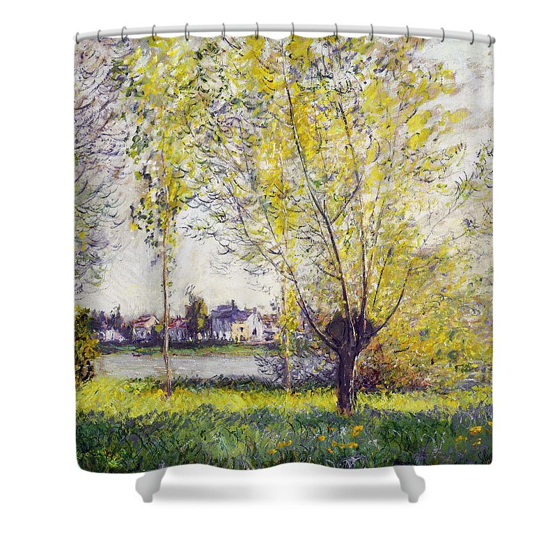Forest Shower Curtain featuring the painting The Willows by Claude Monet