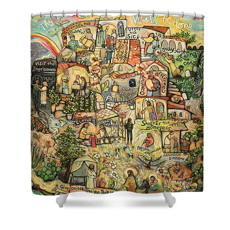 Kingdom Shower Curtains Pixels