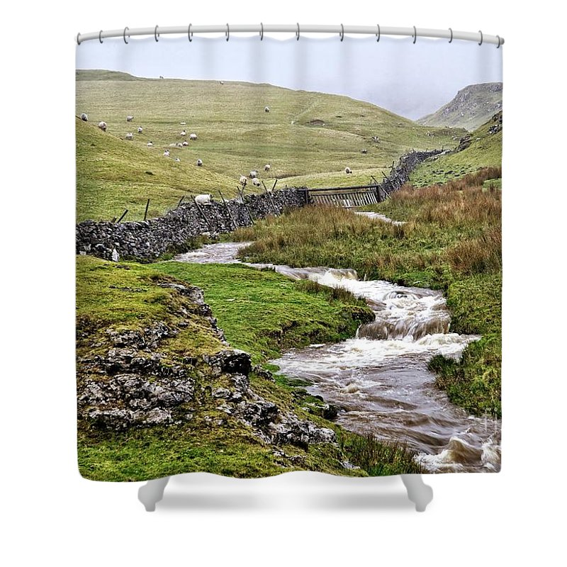 Yorkshire Dales Shower Curtain featuring the photograph The Yorkshire Dales by Martyn Arnold