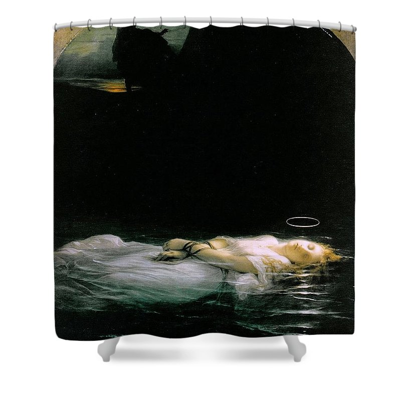 Paul Delaroche - The Young Martyr 1855 Shower Curtain featuring the painting The Young Martyr by MotionAge Designs