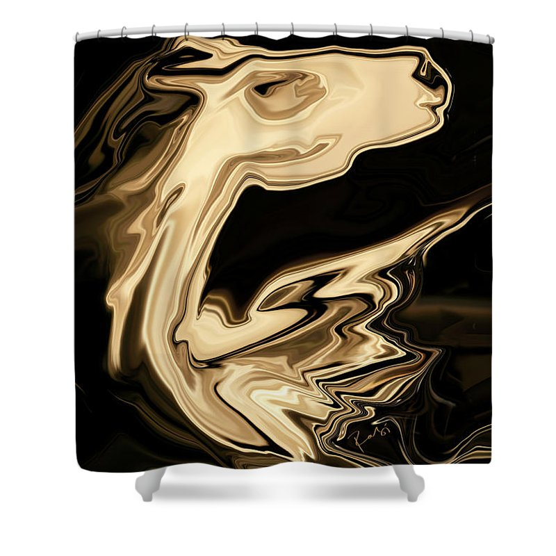 Art Shower Curtain featuring the digital art The Young Pegasus by Rabi Khan