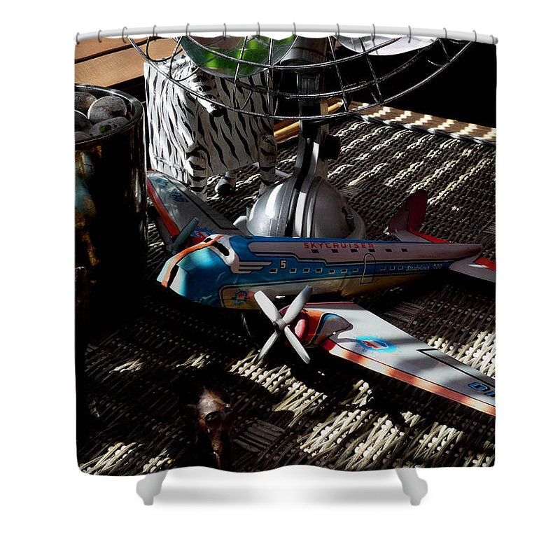 Still Life Shower Curtain featuring the photograph The Zebra In Colour by Charles Stuart